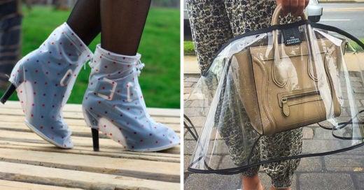 15 Ridículos accesorios que nadie necesita llevar en tiempo de lluvias