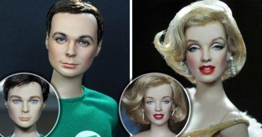Artista repinta muñecas comerciales y les da un acabado asombroso