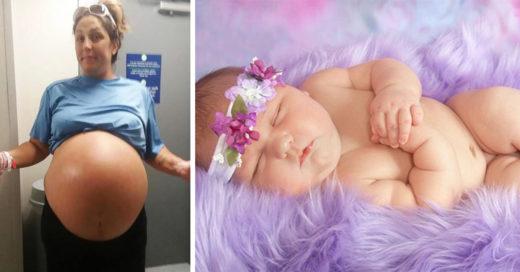 Esta madre ha dado a luz a un bebé de 6 kilos y sus fotos se han vuelto la sensación de internet