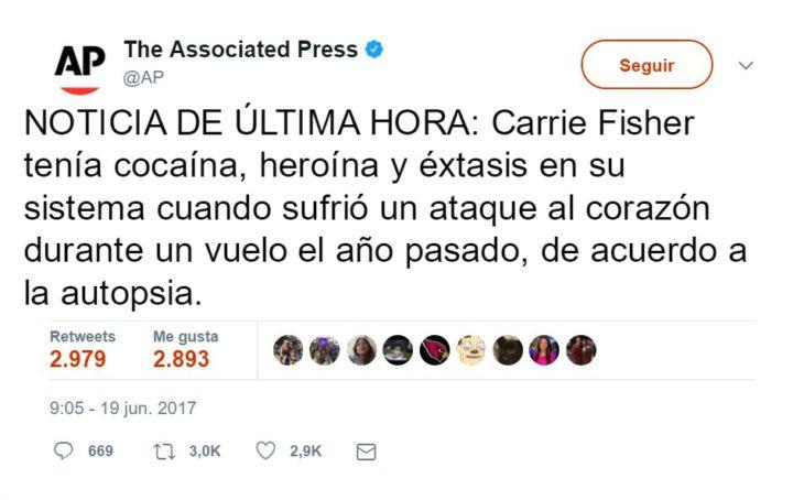 carrie fisher razones muerte 1
