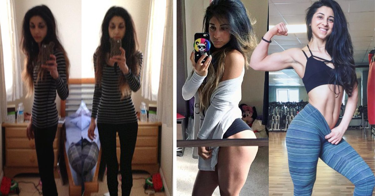 Esta chica venció la anorexia y ahora levanta pesas