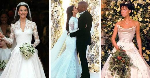 15 Preciosos y muy costosos vestidos de novia que utilizaron las famosas