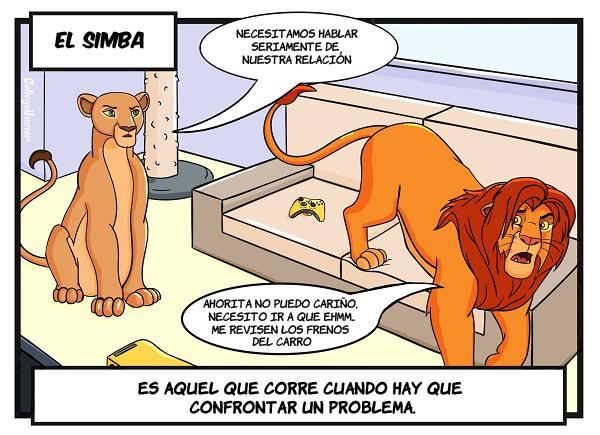caricatura de rey leon