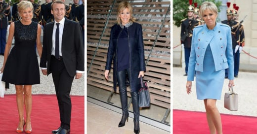El estilo de Brigitte Macron rompe con los protocolos y a ella no le importa