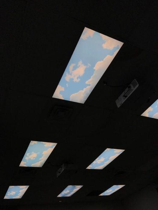 nubes en lamparas alogenas