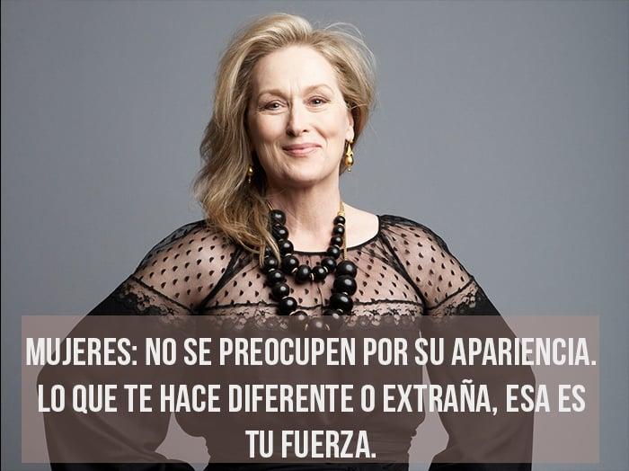 Resultado de imagen de Frases de Meryl Streep