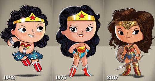 Este artista ilustra la forma en la que han evolucionado tus actores favoritos