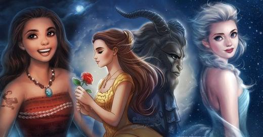 16 Ilustraciones inspiradas en tus personajes favoritos de películas Disney