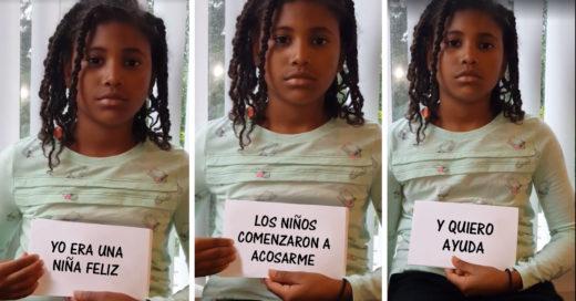 Niña acosada por sus compañeros hace un video para pedir ayuda y crear conciencia sobre el bullying