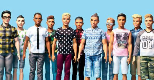 Ken cambió: Tiene diferentes tonos de piel, color de ojos, peinado y un look muy alocado