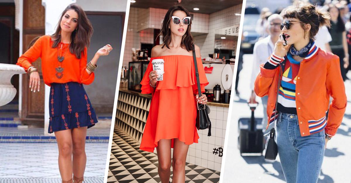 """15 'Looks' para convencerte de que este verano 2017 el naranja será """"el nuevo negro"""""""
