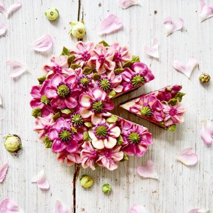 pastel flor 10