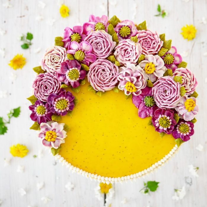 pastel flor 2