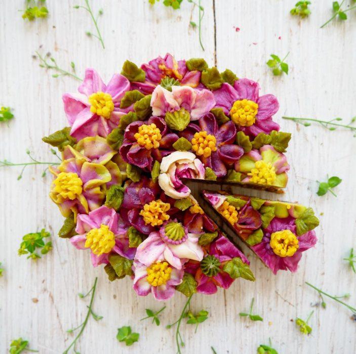 pastel flor 3