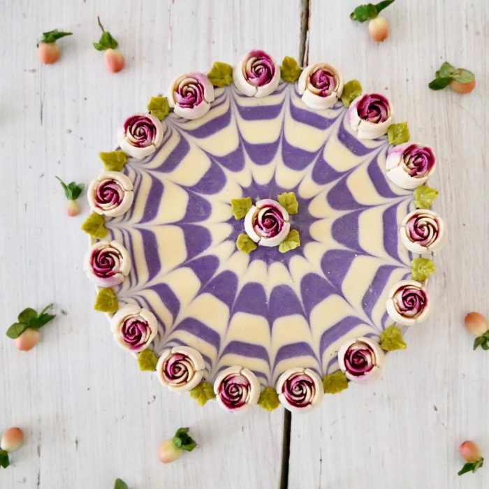 pastel flor 5