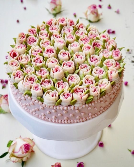 pastel flor 6