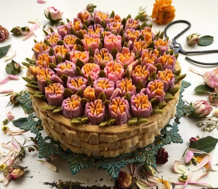 pastel flor 8