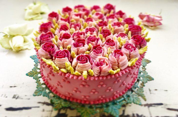 pastel flor 9