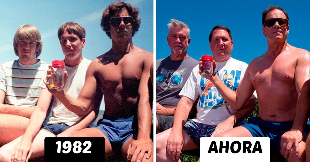 Recrean la misma fotografía durante 35 años; el resultado es encantador