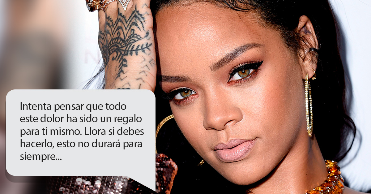 Rihanna le dio el mejor consejo a uno de fans para superar una ruptura amorosa