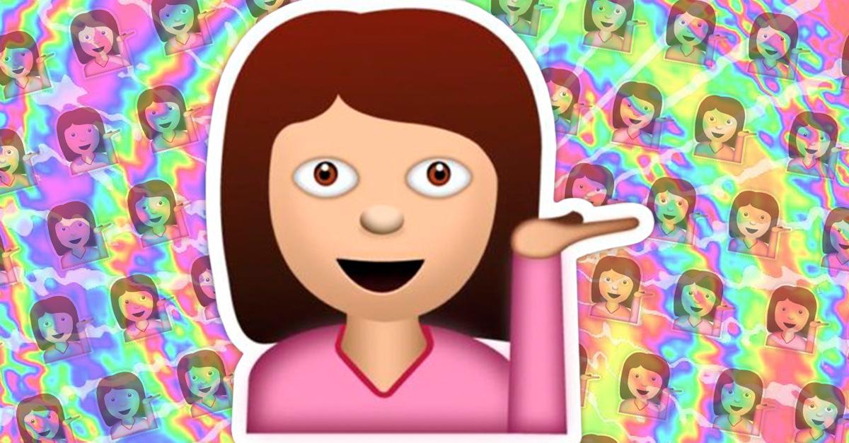 Conoce el significado del emoji de la chica con la mano levantada; te sorprenderá