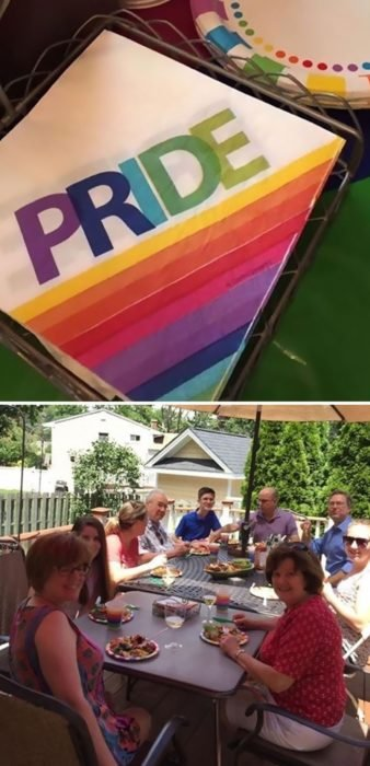 pastel de orgullo gay