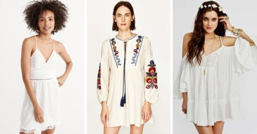 15 Vestiditos blancos que usar este verano