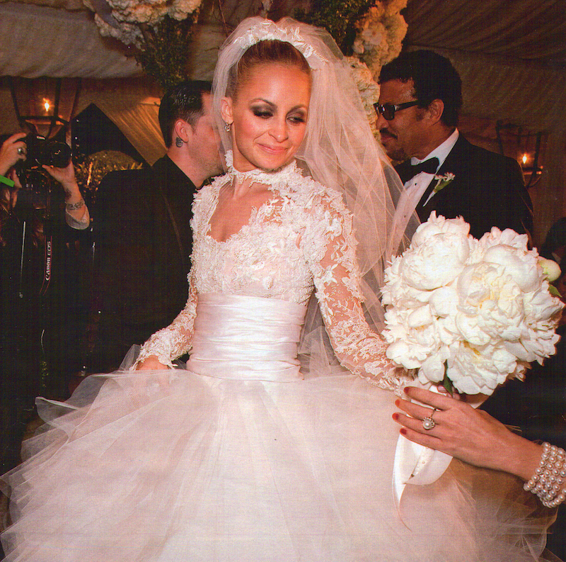 c1aad5c528 15. Nicole Richie – Marchesa. vestidos de novia famosas 2