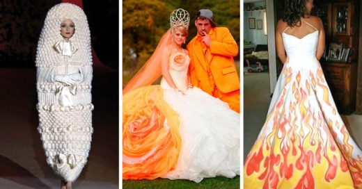 20 Vestidos de novia tan horribles que podrían causar un divorcio