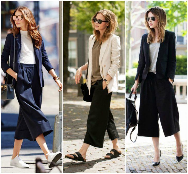 blazer + culotte