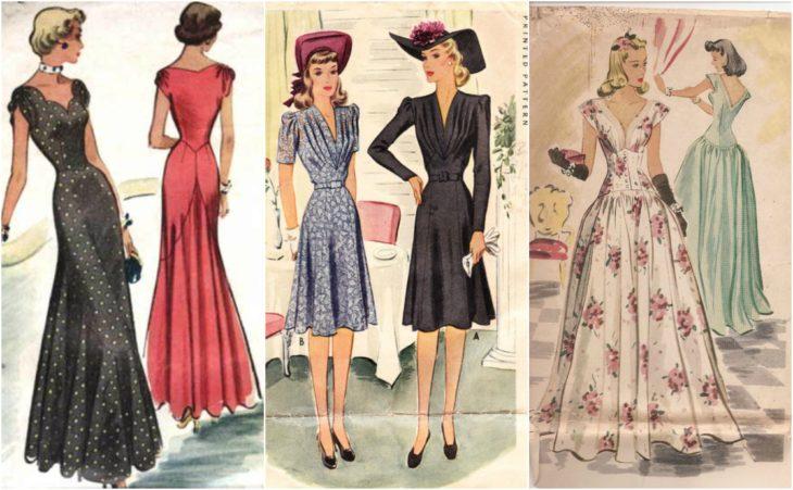 patrones 1940