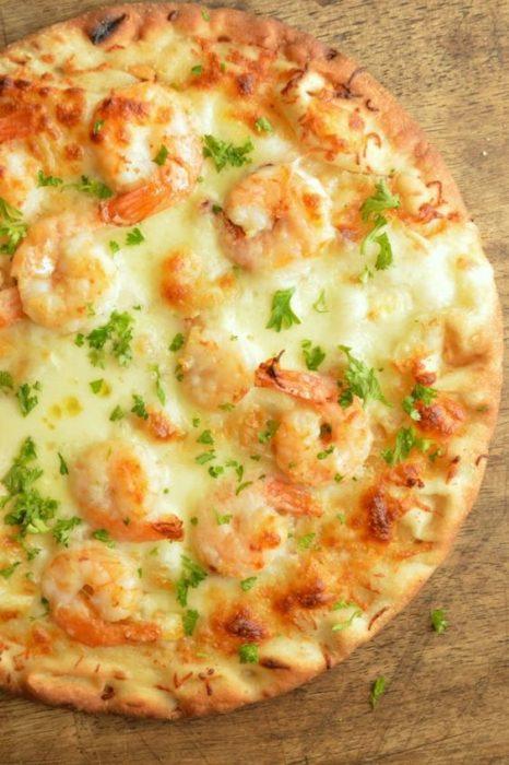 pizza camarones