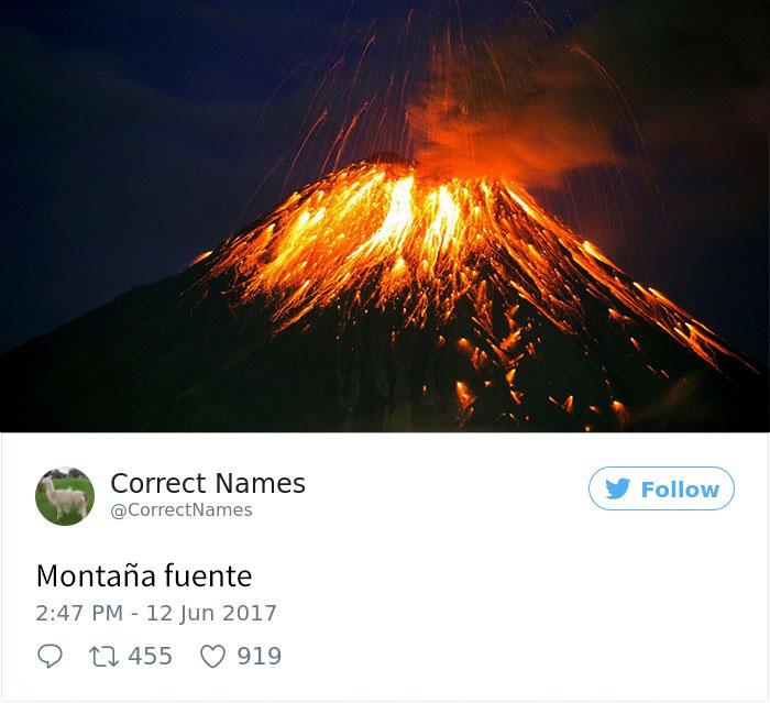 montaña fuente
