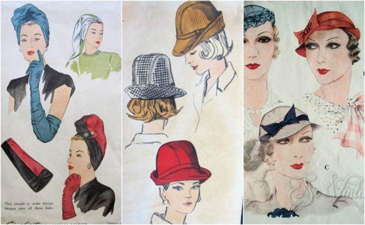 patrones sombreros