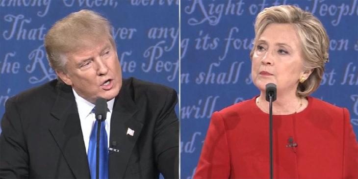 hombre y mujer durante debate
