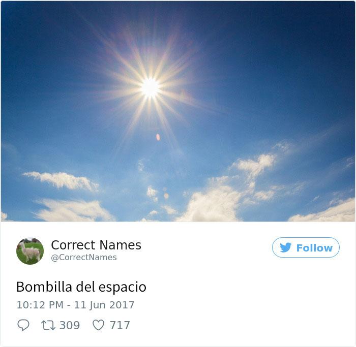 bombilla del espacio