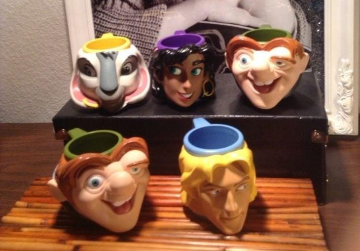 tazas con rostros disney