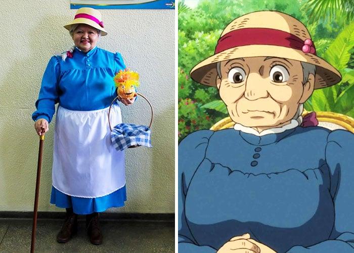Abuelita se disfraza de diferentes cosplay