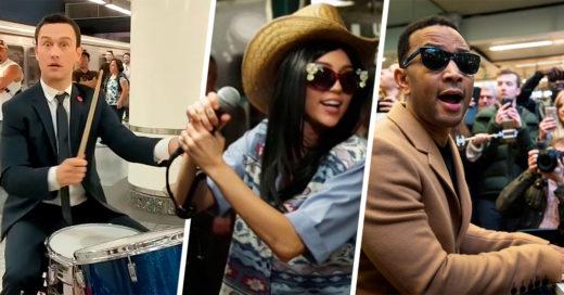 11 Celebridades que realizaron performance callejeros para el deleite de sus fans