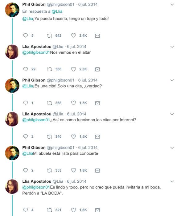 Comentatos en Twitter de Chica que conoció a su cita en twitter