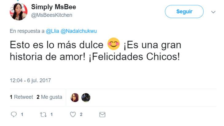 Comentarios en Twitter de Chica que conoció a su cita en twitter