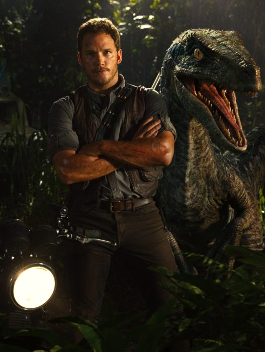 Chris Pratt en la película jurassic World