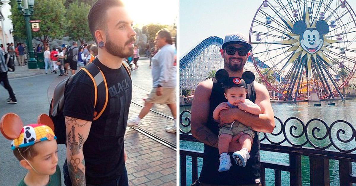 30 Fotos que demuestran que los hombres más guapos y tiernos se encuentran en Disney, ¡con sus hijos! Parte 2