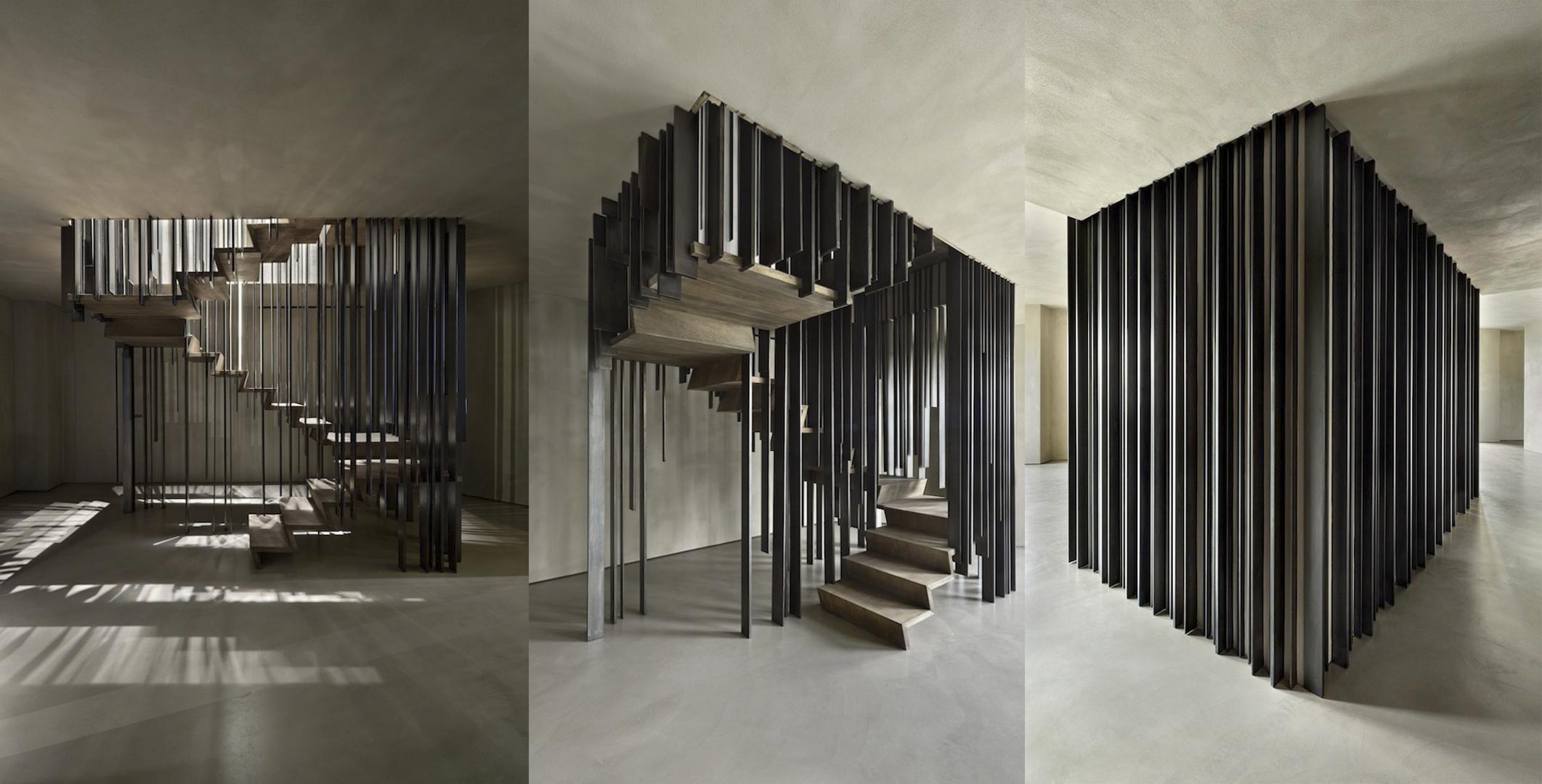 impresionantes dise os de escaleras que todos los amantes. Black Bedroom Furniture Sets. Home Design Ideas