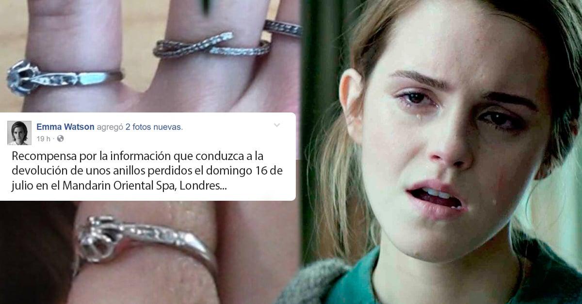Emma Watson perdió una reliquia familiar y pidió ayuda a Internet; ahora no la está pasando nada bien
