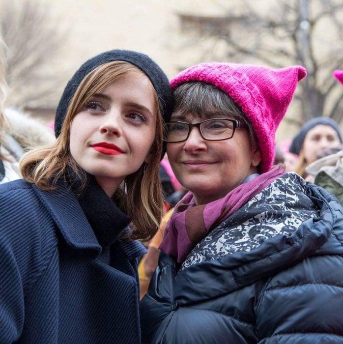 Emma Watson y su mamá