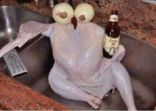 Pollo con cebollas