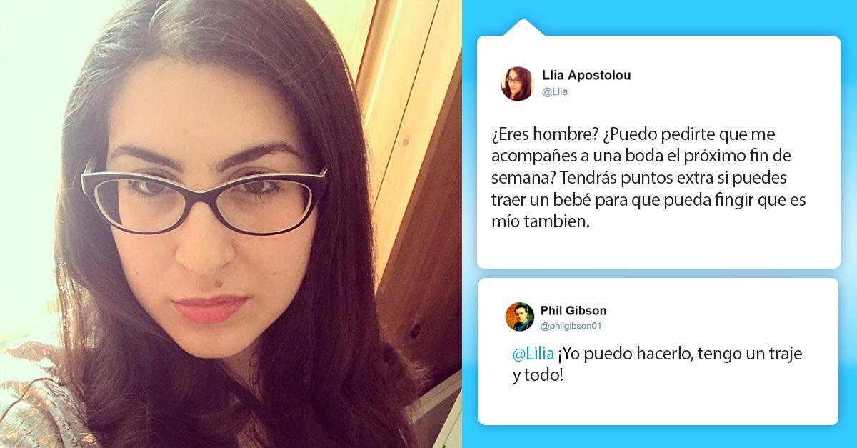 Esta chica encontró una pareja para una boda en Twitter, el resto es historia