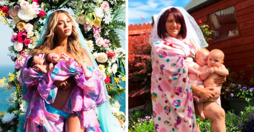 Esta mamá recreó la foto de Beyoncé con sus gemelos y todo se ha salido de control