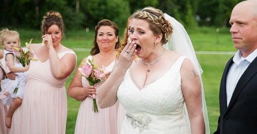 Su novio le dio el mejor de los presentes el día de su boda y ella no lo puede creer